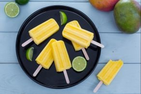 Ghiaccioli mango e lime