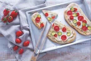 Ricetta Schiacciatina con pomodori e ricotta