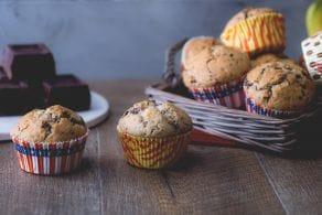 Ricetta Muffin alla banana e gocce di cioccolato (muffin del buonumore)