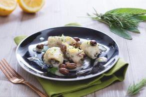 Ricetta Sogliola arrotolata alle erbe e olive