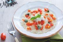 Risotto mozzarella di bufala e pomodorini