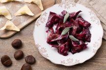 Ravioli di castagne e salsiccia