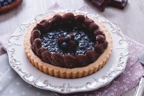 Crostata mirtilli e cioccolato