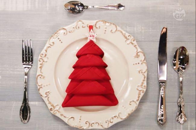 Tovagliolo albero di Natale