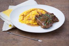 Ricetta Ossobuco alla milanese con risotto giallo