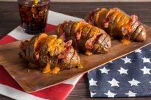 Patate americane con cheddar e bacon