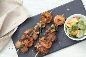 Ricetta Spiedini di pesce in salsa Worcestershire