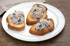 Ricetta Merluzzo mantecato con yogurt e patate viola