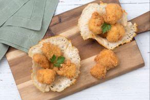 Ricetta Bocconcini di pollo in crosta di parmigiano
