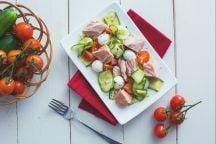 Carpaccio di zucchine con tonno