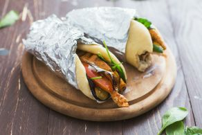 Ricetta Pita con melanzane e pollo