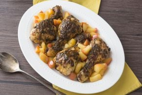 Ricetta Cosce di pollo al forno con mele