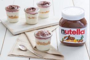 Ricetta Bicchierini con crema di torrone e Nutella®