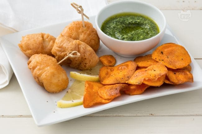 Fish and chips di rana pescatrice