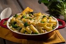 Pasta al forno con broccoli e pancetta