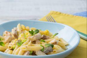 Ricetta Pasta con pesce spada e fave