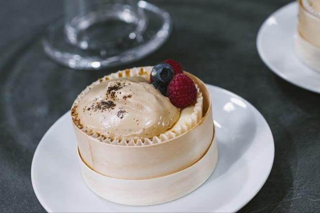 Cheesecake con moka mousse