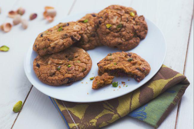 Cookies mirtilli e pistacchi