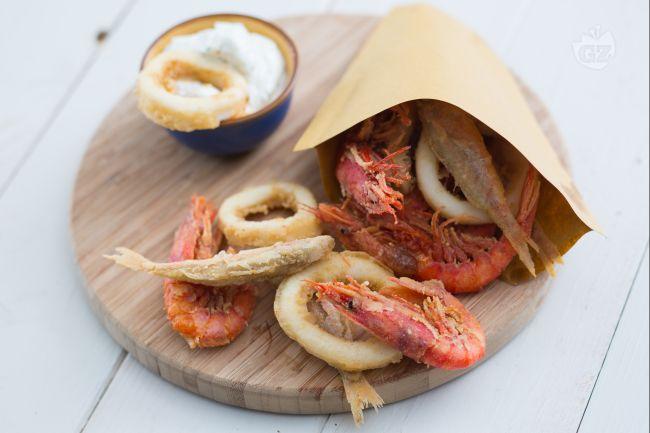 Cuoppo di mare con mayo al mojito