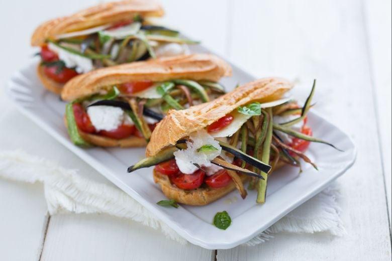 Eclair salati vegetariani