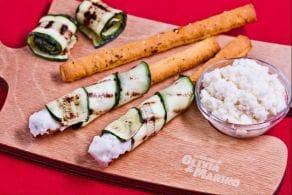 Ricetta Sfilati al pomodoro con zucchine grigliate e crema al parmigiano