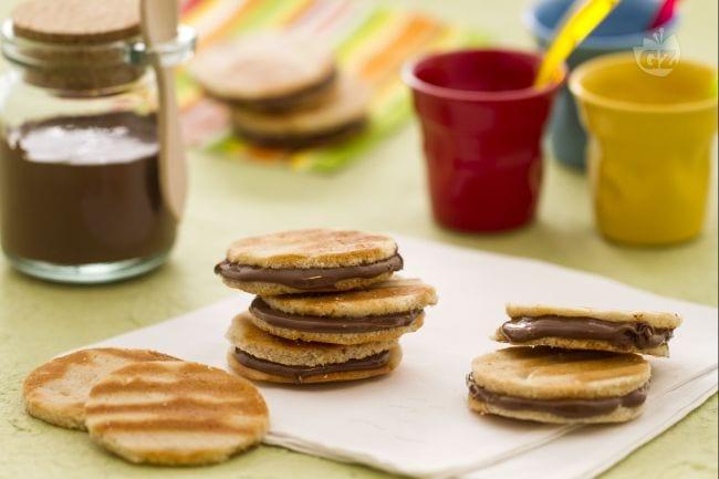 Waffle sandwich alla Nutella