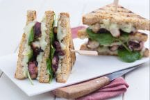 Club sandwich con polpo e patate