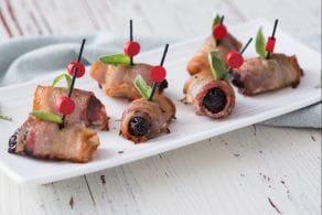 Ricetta Bocconcini di prugne e bacon