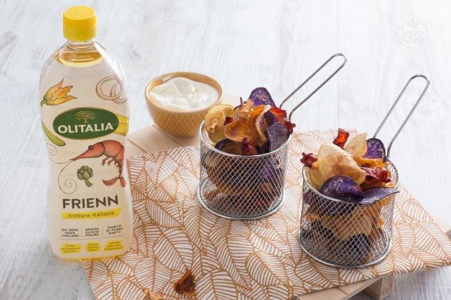 Chips di tuberi e maionese allo zenzero