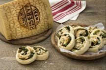 Rolls con Grana Padano e verdure