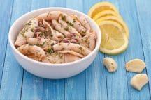 Calamari all'aglio e profumo di limone