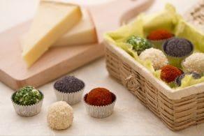 Tartufini di formaggio ai quattro colori