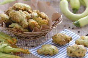 Frittelle di zucchine trombetta e suoi fiori