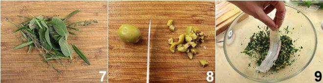 Sogliola arrotolata con erbe e olive