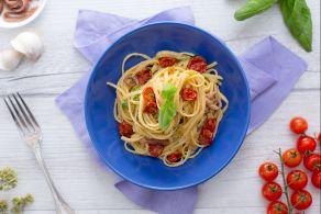 Linguine con pomodorini confit