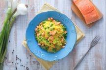 Ricetta Tagliolini salmone e piselli