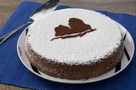Torta caprese al pistacchio e cioccolato