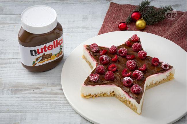 Cheesecake con crumble salato e Nutella®
