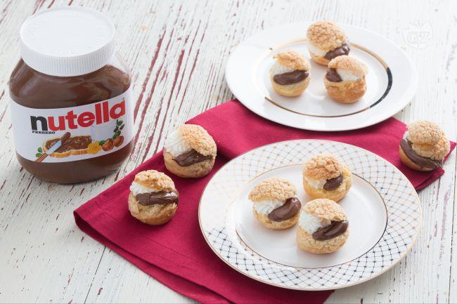 Bignè craquelin con Chantilly e Nutella®