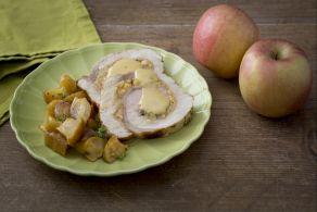 Arrosto di maiale con mele