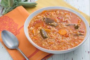Ricetta Zuppa di pomodoro e ceci con bulgur