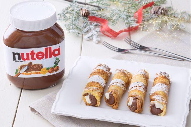 Cannoli di pandoro e Nutella®