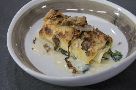 Lasagne con funghi porcini e tartufo nero
