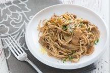 Spaghetti integrali al finto guanciale