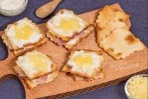 Croque monsieur finger food con sfoglia classica