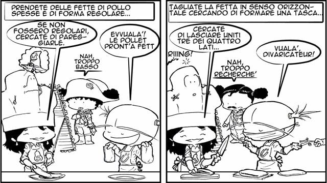 Ricetta a fumetti Cordon bleu