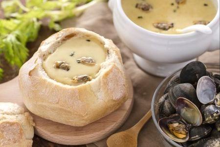 Ricetta zuppa di pesce in crosta