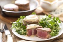 Filet mignon con salsa al roquefort