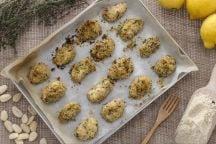 Bocconcini di rana pescatrice in crosta di mandorle