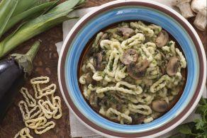 Ricetta Lorighittas con melanzane e funghi